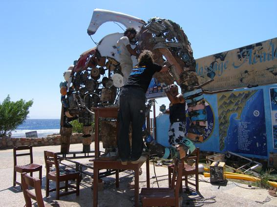 Unsern Elefant vom Lighthouse haben wir auch bei und mit Bedouindivers gebaut ;-), Bedouin Divers, Dahab, Ägypten, Sinai-Nord ab Dahab