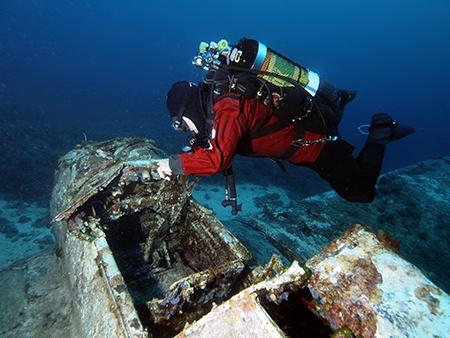 Stuka , Ju 87, 28 m Tiefe, 40 min Fahrzeit mit Najada diving, Najada diving, Murter, Kroatien