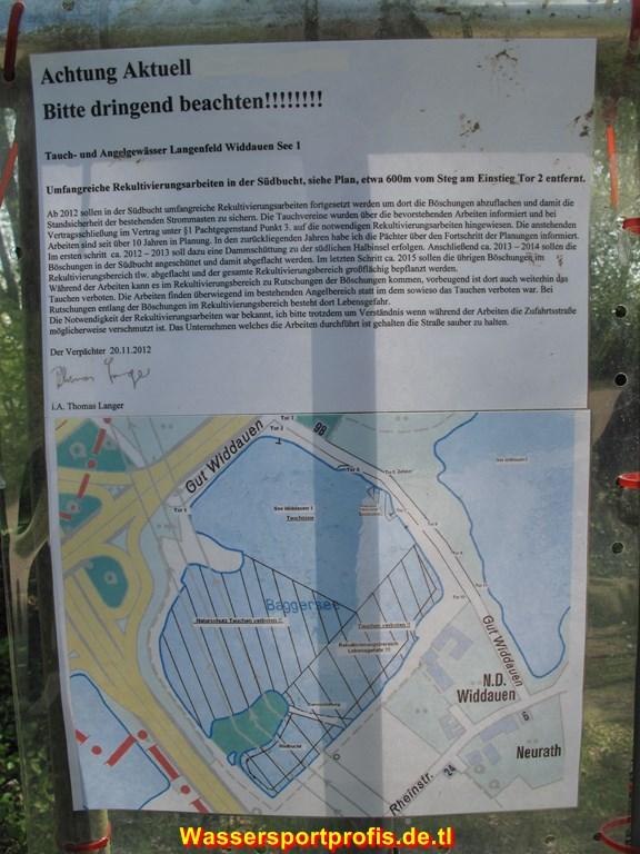 Umfangreiche Rekultivierungsarbeiten in der Südbucht, Widdauen See I,Nordrhein-Westfalen,Deutschland