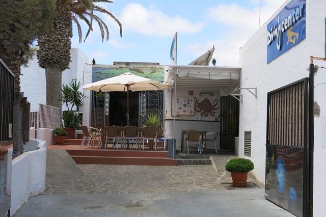 Eingang Basis, Aquanautic Club Lanzarote (ex Speedy`s Diving Center), Spanien, Kanarische Inseln