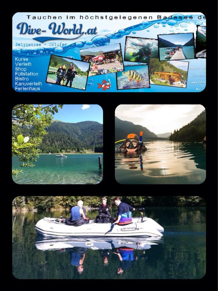 Bootstouren Weissensee Ost Dive World , Dive World Diving.de Diving weissensee tauchen Kurse Padi Ssi, Tauchbasis Dive-World, Weissensee-Ost, Österreich
