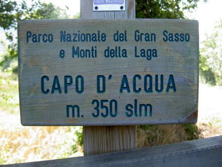 Capo d´Acqua,L´Aquila,Italien