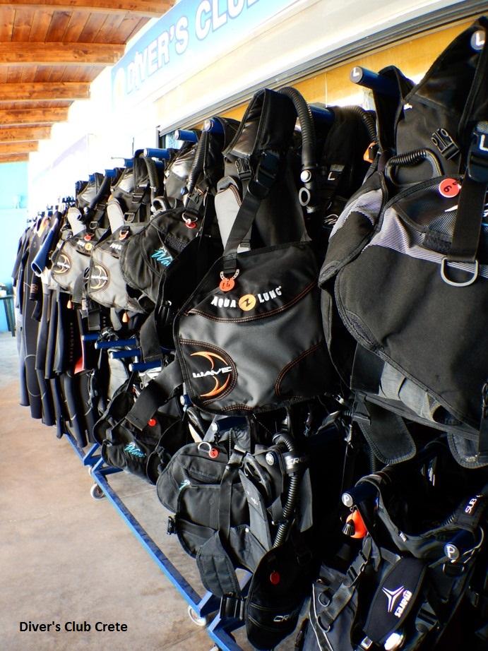 Diver's Club Crete BCDs, Equipment, Divers Club Crete, Agia Pelagia, Kreta, Griechenland
