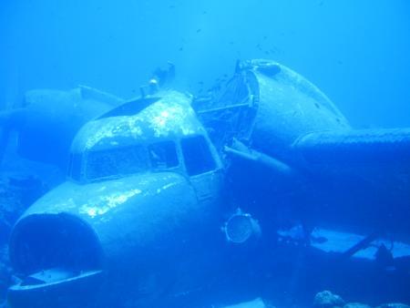 Bodrum,Kara Ada - Flugzeugwrack Douglas C47 A Dakota,Türkei