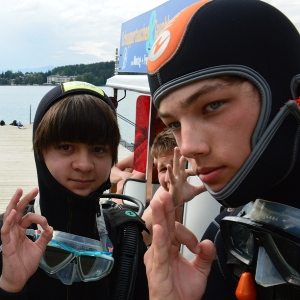 Kindertauchkurs Junior Open Water Diver, Tauchkurs für Kinder, Tauchen, Anfängertauchkurs, Easy Dive, Unterburg/Klopeiner See, Österreich