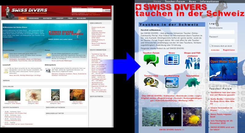 SWISS DIVERS wurde überarbietet, SWISS DIVERS, Swiss Divers, Schweiz