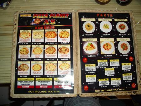 Pizza Planet,Jimbaran,Bali,Indonesien