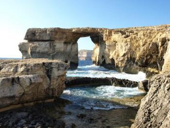Gozo - Azure Window, Tauchplatz Blue Hole