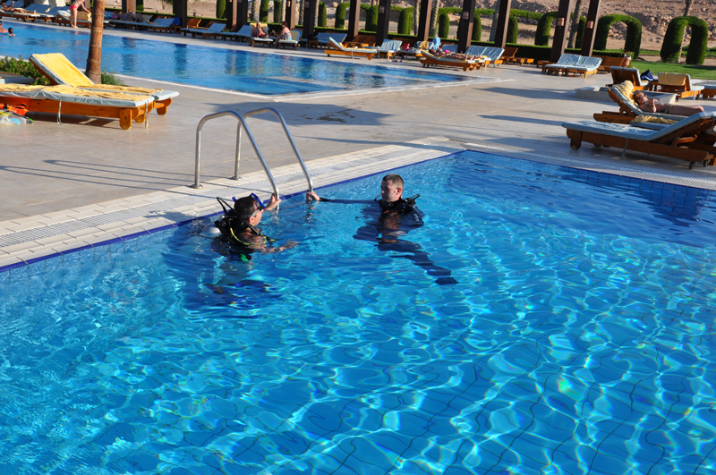 Training pool, Blue Submarine Diving Center, Gemma Resort, Marsa Alam, Ägypten, Marsa Alam und südlich