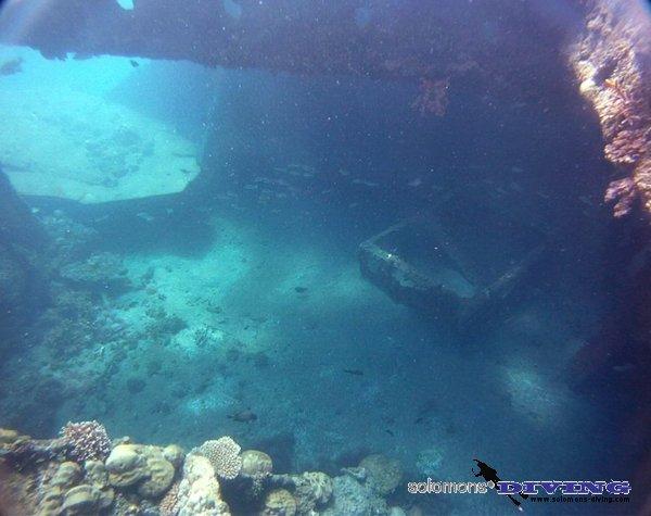 Wrack Kinagawa Maru (Bonegi 2) - Honiara, Guadalcanal, Salomonen, Kinagawa Maru (Bonegi 2) - Honiara,Guadalcanal,Salomonen