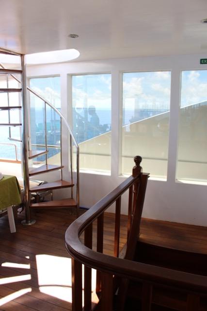 Aufgang zum Sonnendeck/Treppe zum Hauptdeck, Carpe Novo Explorer, Malediven