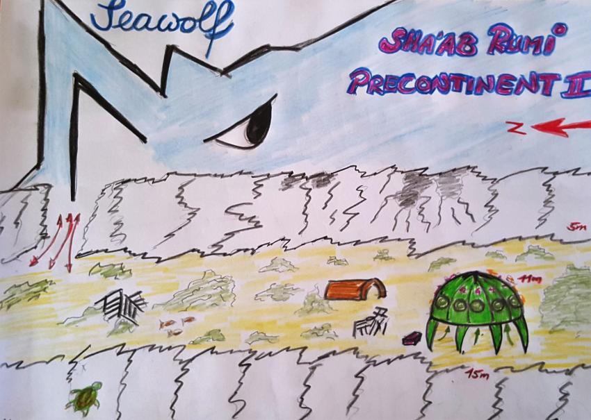 Sha'ab Rumi Precontinent II Riffkarte, Sha'ab Rumi Precontinent II Riffkarte Sudan Seawolf Diving Safari Dominator, Sha'ab Rumi (West) Precontinent II , Sudan