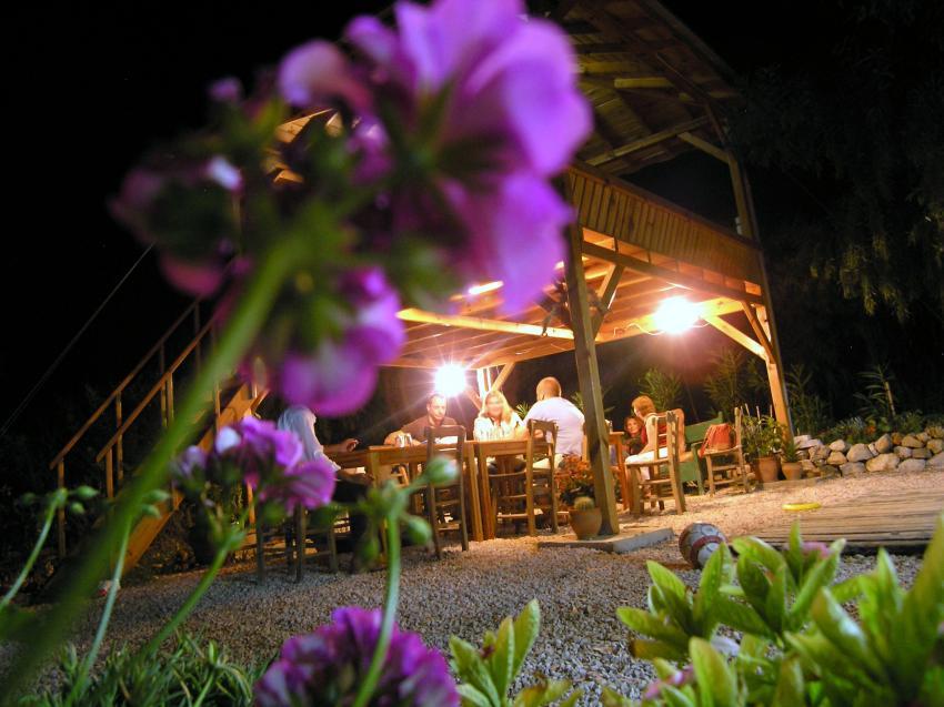 Diving Center Adrasan, Türkische Riviera,Türkei,Gemütliches Beisammensein,am Abend