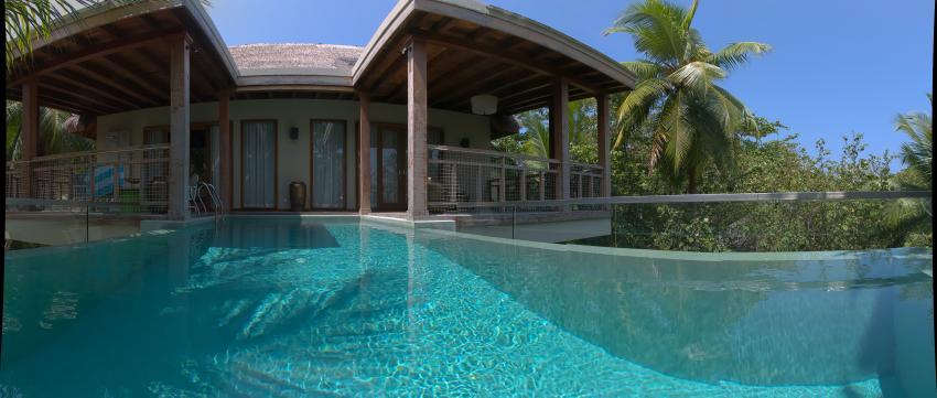 """Tree House"" vom privaten Pool aus gesehen, Dive Butler, Amilla Fushi, Malediven"