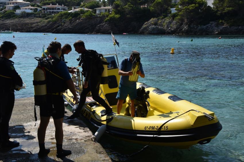 Poco Mas am Steg Dive & Fun Mallorca, Font de sa cala, cala ratjada, mallorca, Dive & Fun, Font de Sa Cala, Mallorca, Spanien, Balearen