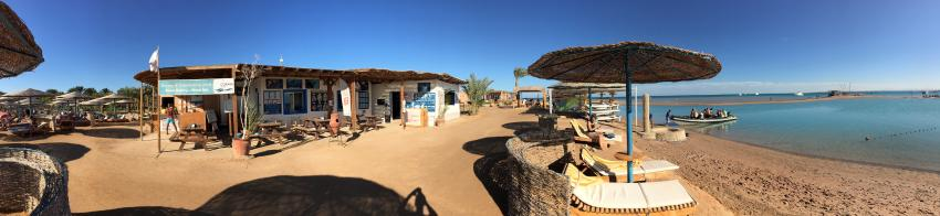 Panorama from the Dive centre, Coraya Divers, Club Paradisio, El Gouna, Ägypten, Hurghada