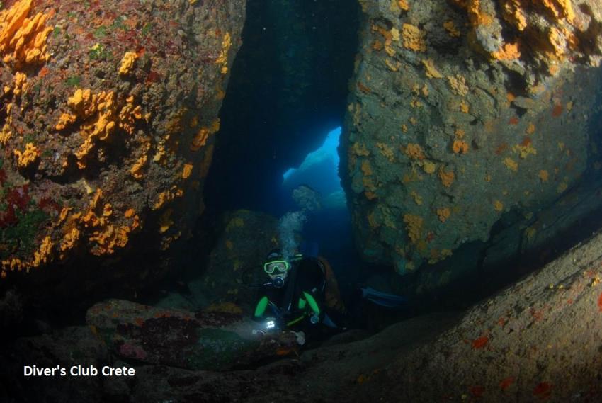 Lygaria Swim Through, Reef Diving, Divers Club Crete, Agia Pelagia, Kreta, Griechenland