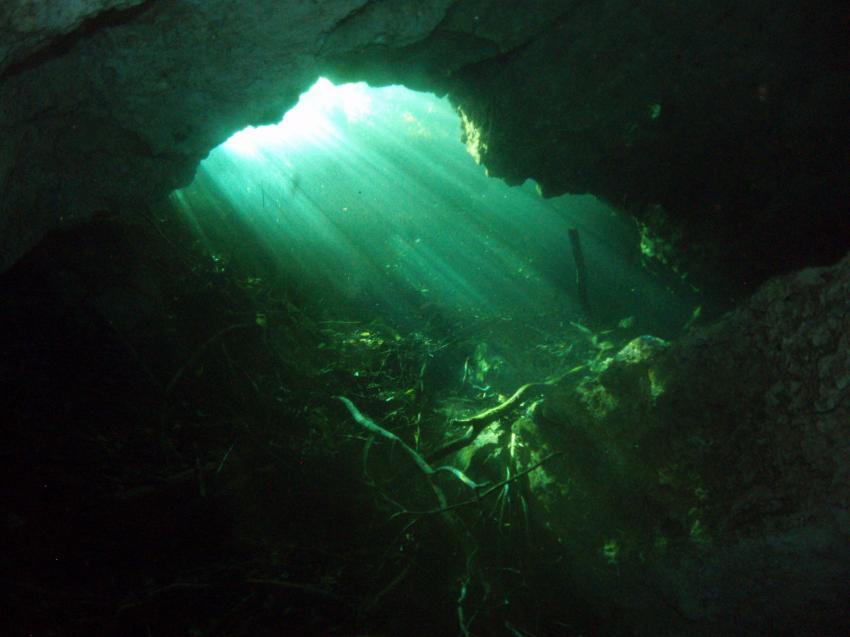 Meer + Cenote, Playa del Carmen,Mexiko