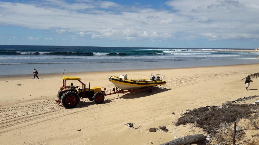 Jeff´s Pro Dive Centre,  Praia de Jangamo, Mosambik