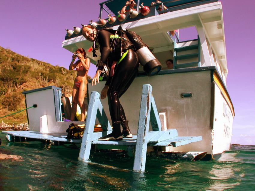 Los Frailes, Los Frailes,Venezuela,tauchboot,einstieg