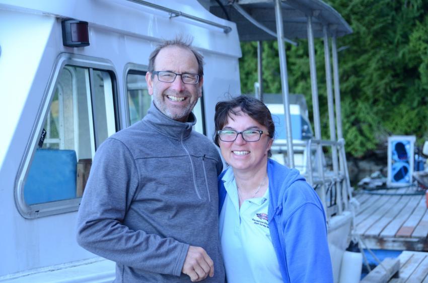 Peter und Kathy, Rendezvous, Barkley Sound, Kanada