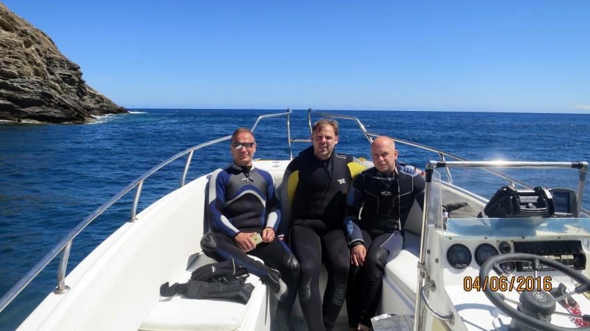 Tolles Boot, tolle Typen :-), Atlantis, Panormo, Kreta, Griechenland