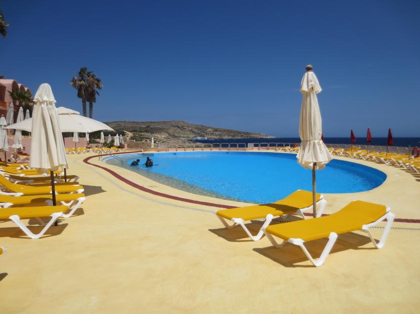 Comino Hotel Pool, Comino Dive Center by Diveshack, Comino, Malta, Comino