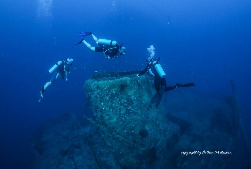 Kamin St. George Wrack auf 18 Meter Tiefe