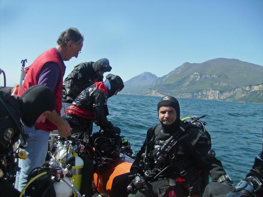 Bootstauchen, Gardasee, Italien, Sportdiver Club