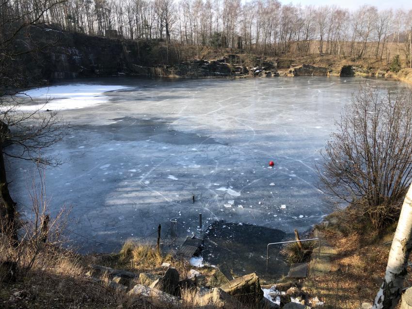Eistauchen Tauchcenter Steina, Tauchcenter Steina, Tauchschule Dresden, Ice Diving, Eistauchen, 2018, Winter, Deutschland, Sachsen