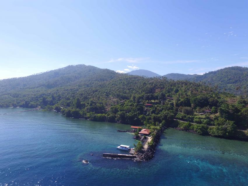 Resort von Drone, lumbalumba diving, manado, Indonesien, bunaken, tauchen, sulawesi, resort, Lumbalumba Diving Resort, Manado, Sulawesi