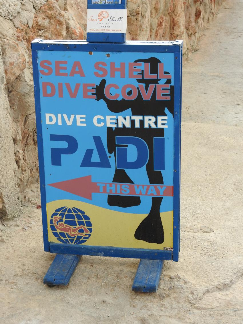 Sea Shell Dive Centre (ex Dive Cove), Mellieha, Malta