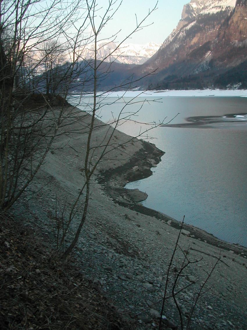 Klöntalersee, Rueggis, Klöntalersee,Rueggis,Schweiz