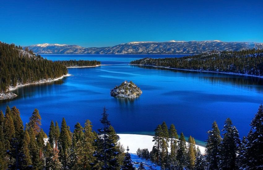 Barges, Emerald Bay, Lake Tahoe, USA, Kalifornien
