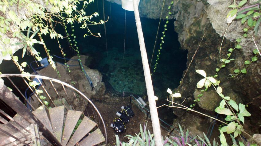 Höhlentauchen La Sirena, La Sirena Höhle Boca Chica,Dominikanische Republik,Höhlentauchen