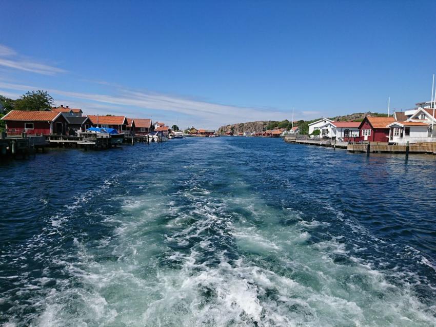 Ausfahrt Hamburgsund, Schweden Hamburgsund, Dyk-Leif Dive Resort, Hamburgsund, Schweden