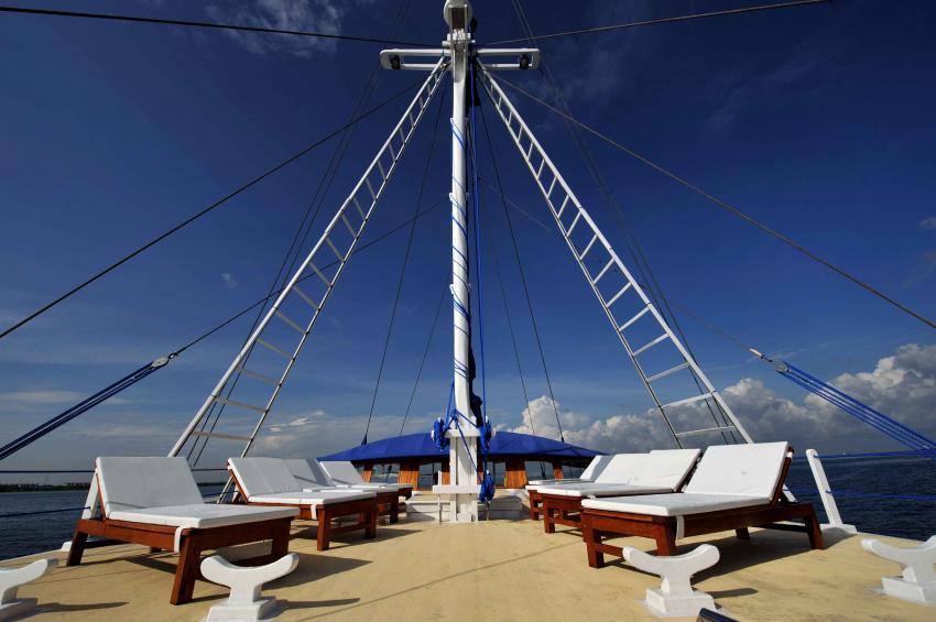 Sun Deck, S/Y Indo Siren, Indonesien, Allgemein