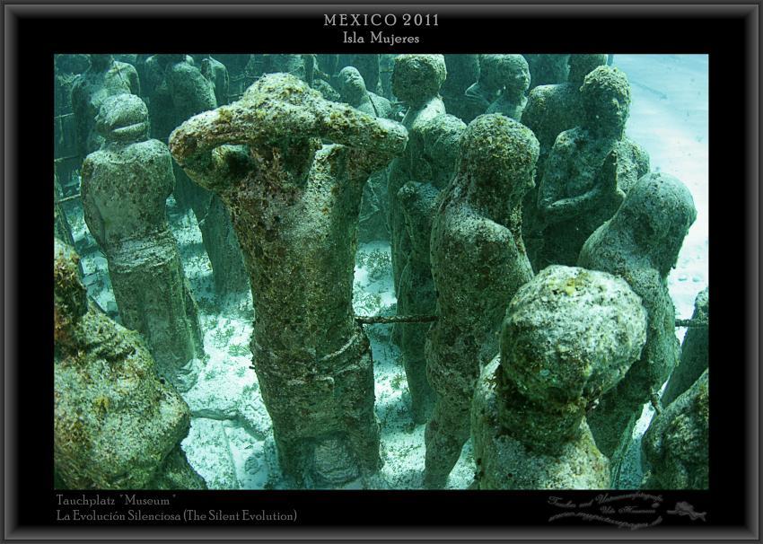 La Evolución Silenciosa (The Silent Evolution), Isla Mujeres - Skulpturen - Tauchplatz Museum,Mexiko,Skulpturen