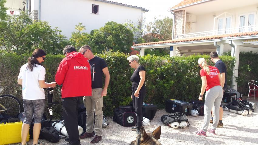 Tec Check-in, Najada diving, Murter, Kroatien