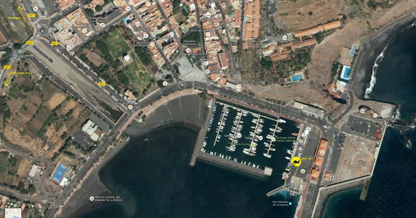Basis Position, Dive Art, San Sebastian, Gomera, Spanien, Kanaren (Kanarische Inseln)