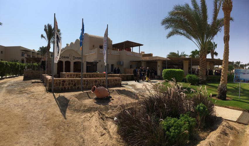 Die Tauchschule von außen, coraya divers, coraya bay, ägypten, Coraya Divers, Coraya Beach, Marsa Alam, Ägypten, Marsa Alam und südlich