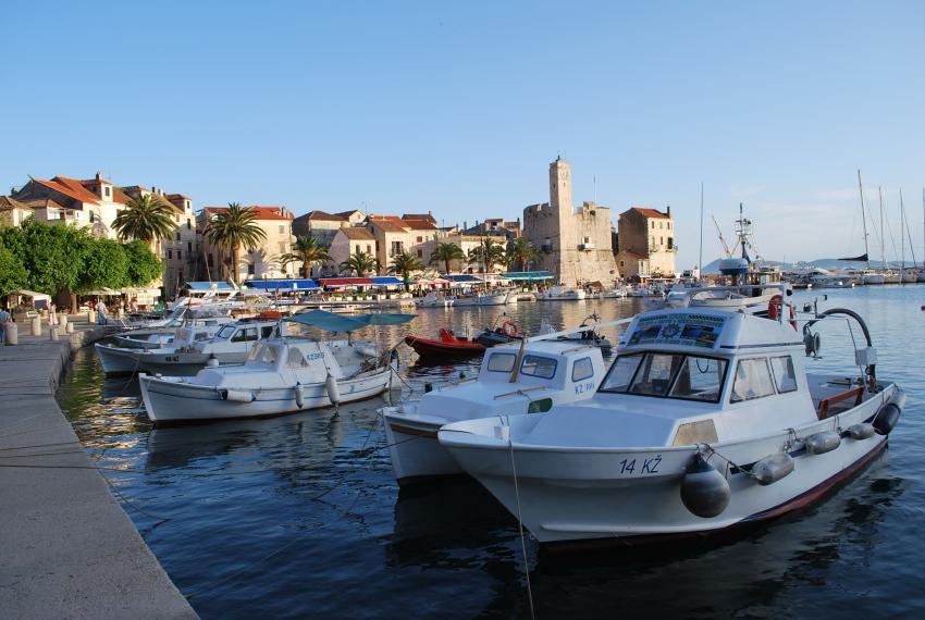 Insel Vis, Insel Vis,Kroatien,Hafen,Fischerboote,Promenade