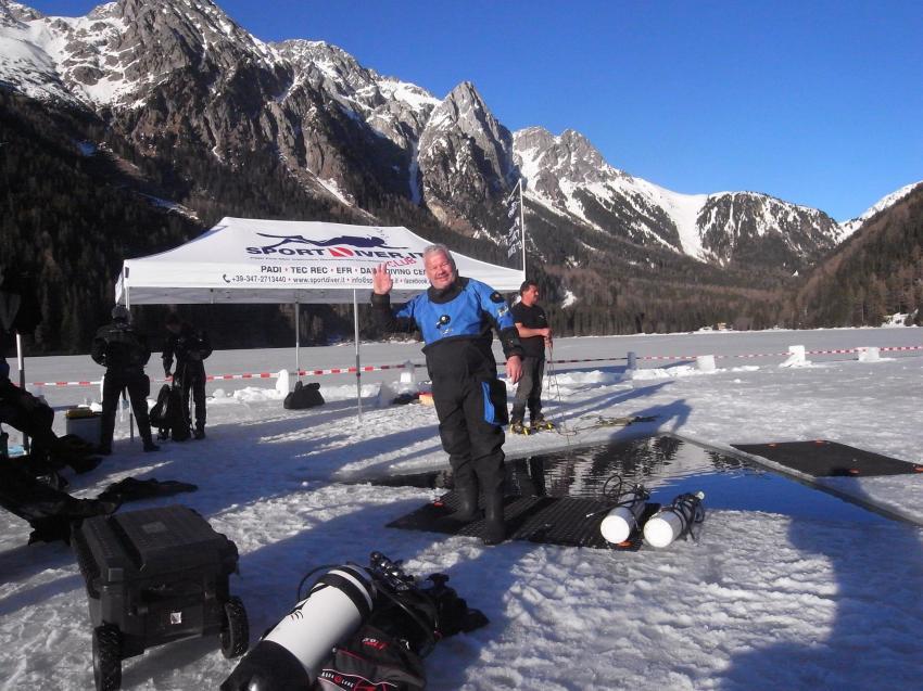 Eistauchen Südtirol, Sportdiver Club, Assenza di Brenzone, Italien