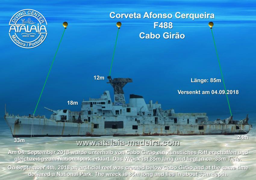 Corveta Afonso Cerqueira F488, Corveta, Afonso Cerqueira, Wrack, F488, Cabo Girão, Madeira, Wrack Corveta Afonso Cerqueira F488, Portugal