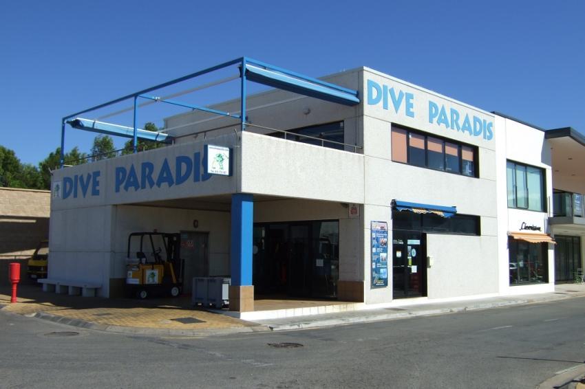 Die Tauchbasis von außen, Dive Paradis, l'Escala, Spanien, Spanien - Festland