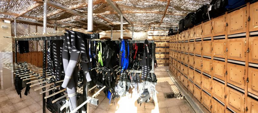 Dryroom, Coraya Divers, Coraya Beach, Marsa Alam, Ägypten, Marsa Alam und südlich