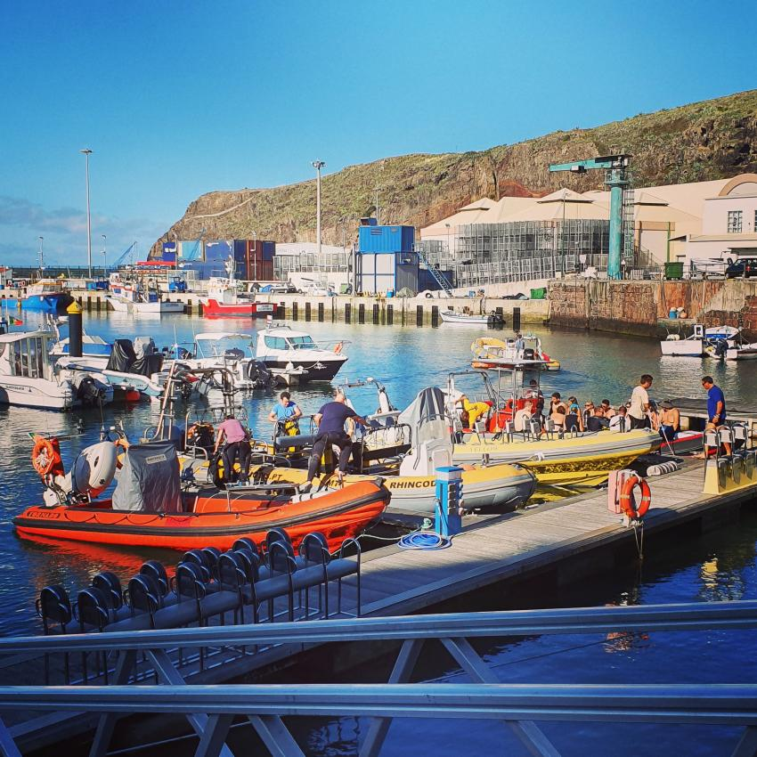 Boottauchgang, Boat Diving, Wahoo Diving, Santa Maria, Azoren, Portugal, Azoren