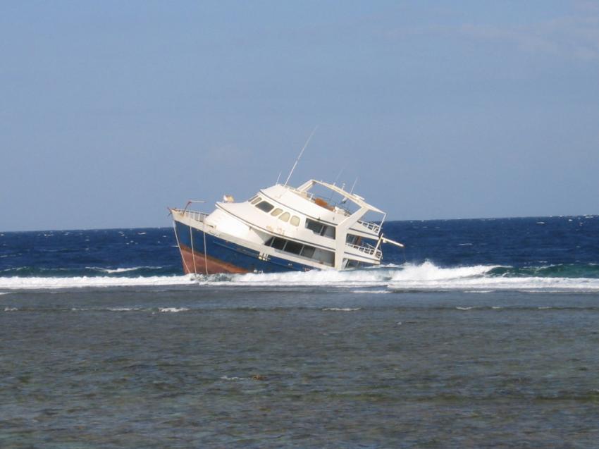 Wrack Oyster, Wrack der Oyster,Ägypten,Schiff auf Riff,vorm sinken