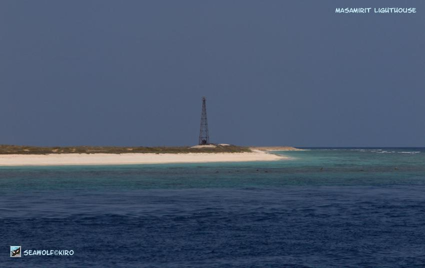 Lighthouse Masamirit Island, Seawolf Diving safari Sudan Süden Dominator, Karam Masamirit, Südsudan, Sudan
