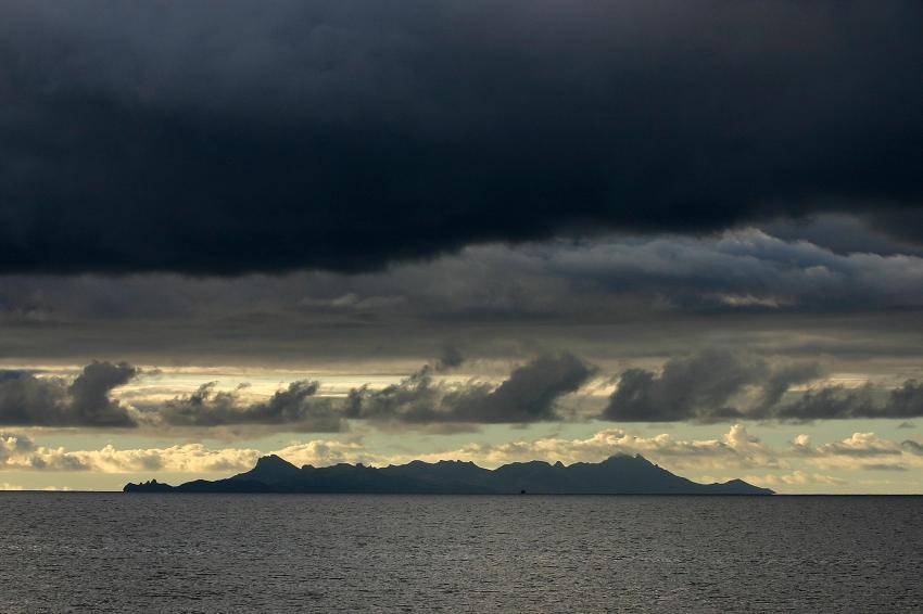 Mamanucas/Bounty Island, Mamanucas/Bounty Island,Fidschi,Strand,Gewitter,dunkle Wolken